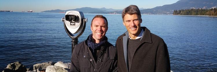 Adrian And Vancouver Mayor Gregor Robertson