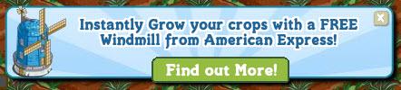 Facebook Farmville Freak Windmill Amex Notice